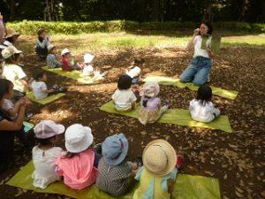 大田区 池上 品川区 旗の台 リトミック教室 公園でリトミック