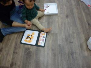 足形スタンプ かぼちゃおばけできるかな ドレミのおへや 大田区 池上 1歳