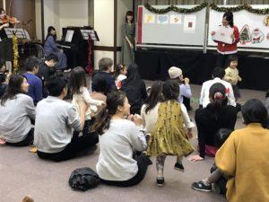 クリスマスリトミック 0歳からの親子コンサート 大田区 嶺町特別出張所にて リトミっこ
